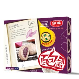 黑米紫薯包